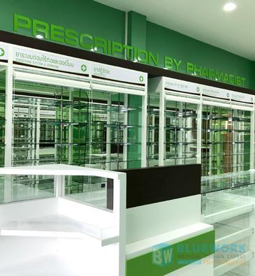 ออกแบบตกแต่งร้านขายยาเพชรบูรณ์ฟาร์มาซี-phetchabunpharmacy1