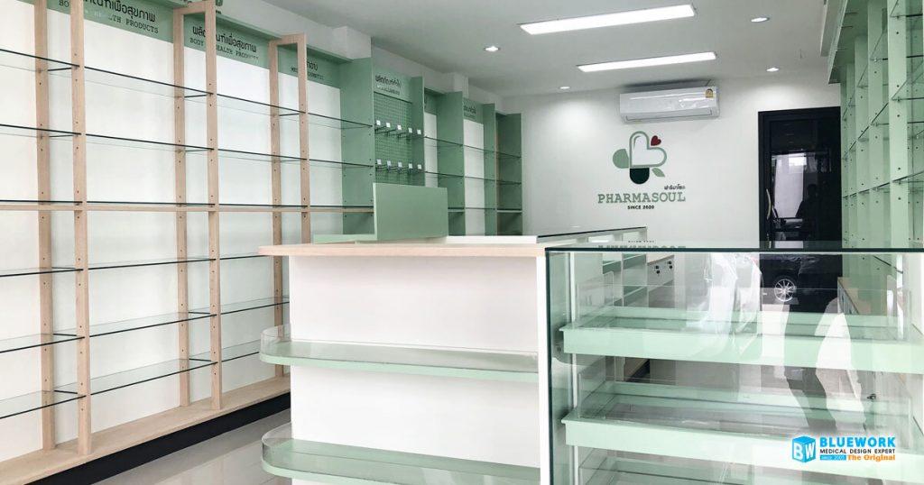 ออกแบบตกแต่งร้านขายยาฟาร์มาโซล-pharmasoul