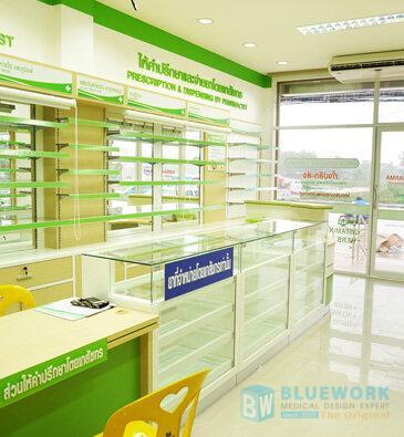 ออกแบบตกแต่งร้านขายยาดรักแอนด์ฟาร์ม่า-drug&pharma1