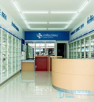 ออกแบบตกแต่งร้านขายยาเภสัชมวลชน-bhaesajmuanchon2