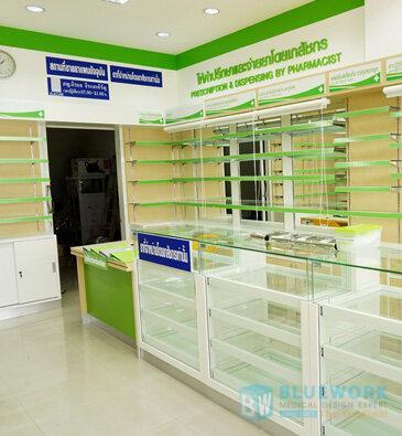 ออกแบบตกแต่งร้านขายยาดรักแอนด์ฟาร์ม่า-drug&pharma2