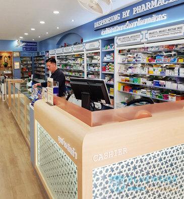 ออกแบบตกแต่งร้านขายยารุ่งเรืองเภสัช-rungruangbhasaj1