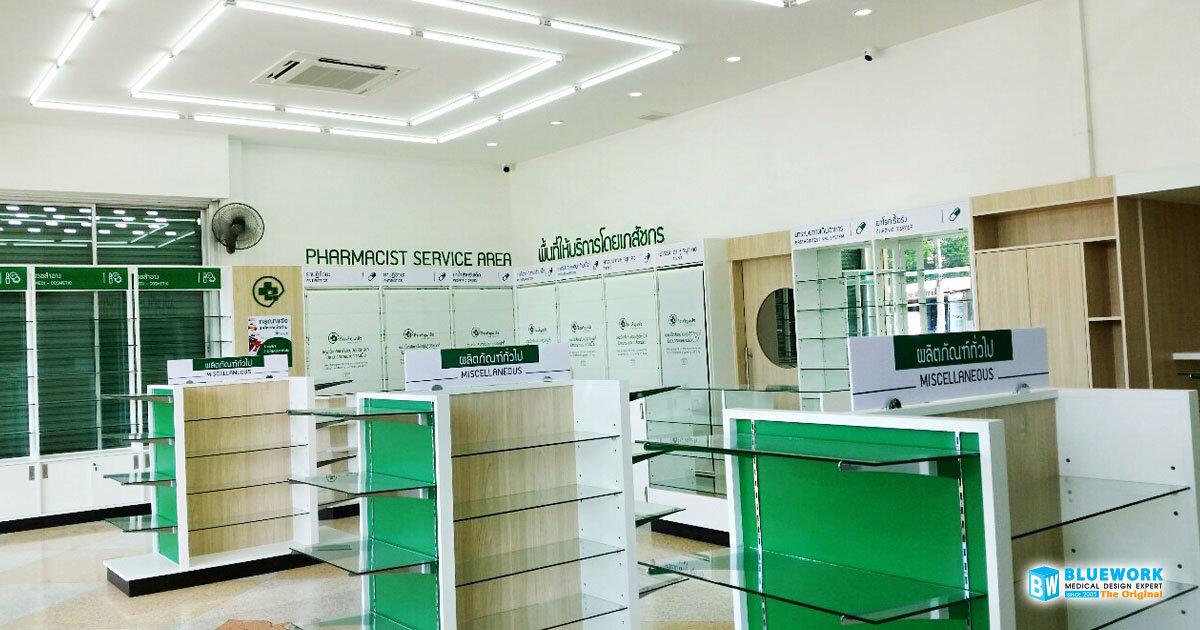 ออกแบบตกแต่งร้านขายยากิจเจริญเภสัชปราจีนบุรี-kijcharoenpharmacyphachinburi