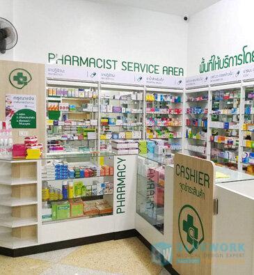 ออกแบบตกแต่งร้านขายยากิจเจริญเภสัชปราจีนบุรี-kijcharoenpharmacyphachinburi1