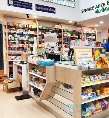 ออกแบบตกแต่งร้านขายยาอมรเภสัช-amornpharmacy2