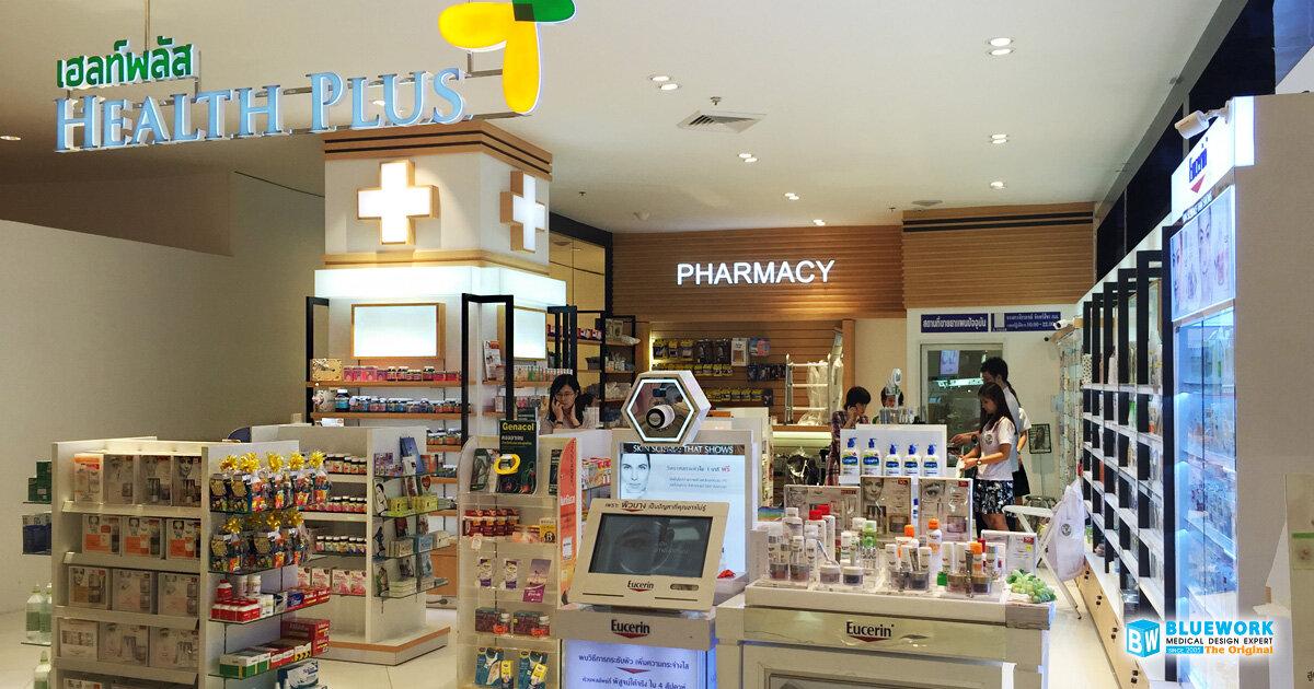 ออกแบบตกแต่งร้านขายยาเฮลท์พลัส-healthplus