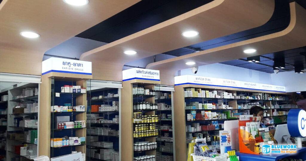 ออกแบบตกแต่งร้านขายยาไอแคร์-icare