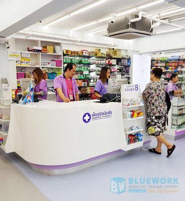 ออกแบบตกแต่งร้านขายยาเพ็ชรรัตน์เภสัช-diamondpharmacy1