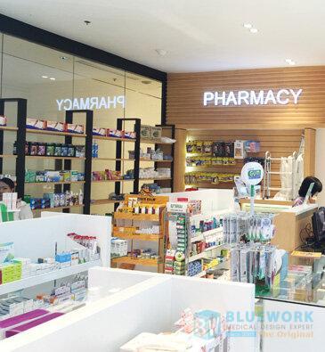 ออกแบบตกแต่งร้านขายยาเฮลท์พลัส-healthplus1