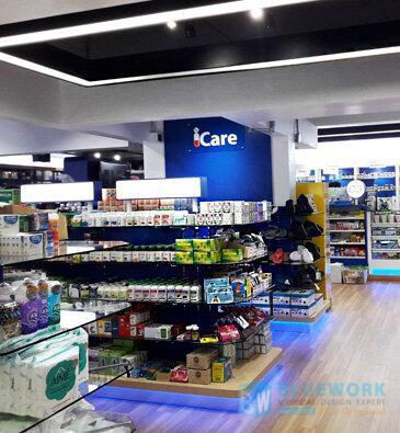 ออกแบบตกแต่งร้านขายยาไอแคร์-icare1