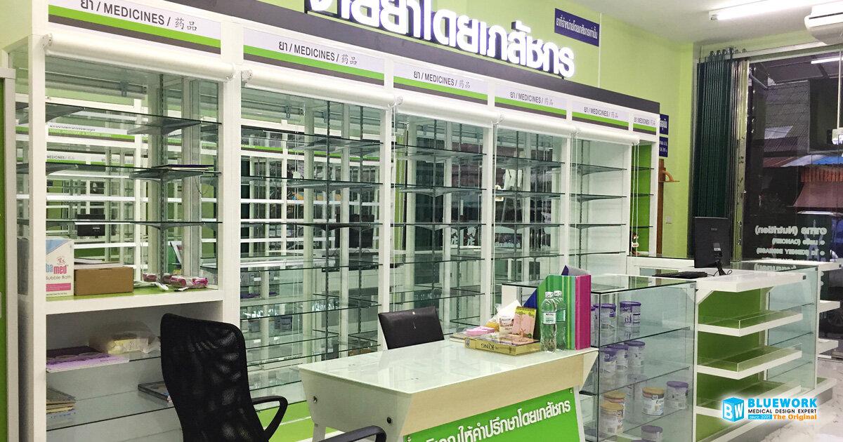 ออกแบบตกแต่งร้านขายยาแสงทองเภสัช-saengthonghatyaipharmacy