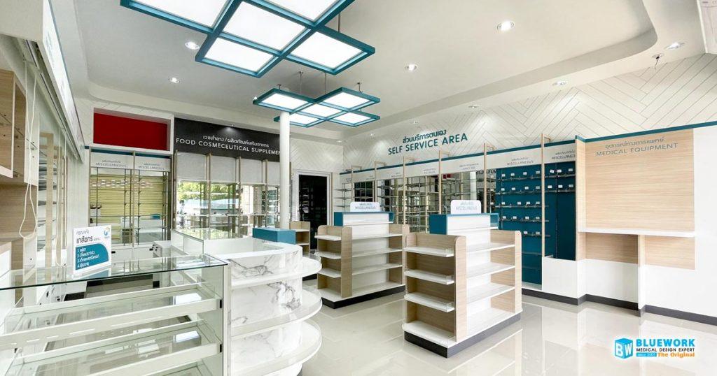 ออกแบบตกแต่งร้านขายยาเอ็มฟาร์มาซี-m-pharmacy